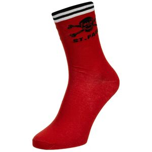 Totenkopf Socken, rot / schwarz, zoom bei OUTFITTER Online