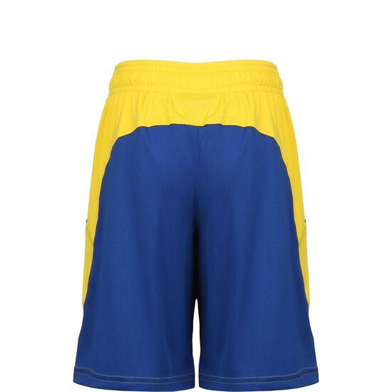 SC30 Baseline Trainingsshorts Kinder, blau / gelb, zoom bei OUTFITTER Online