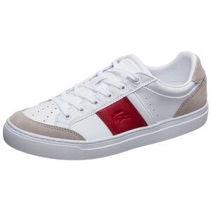 Courtline Sneaker Damen, weiß / rot, zoom bei OUTFITTER Online