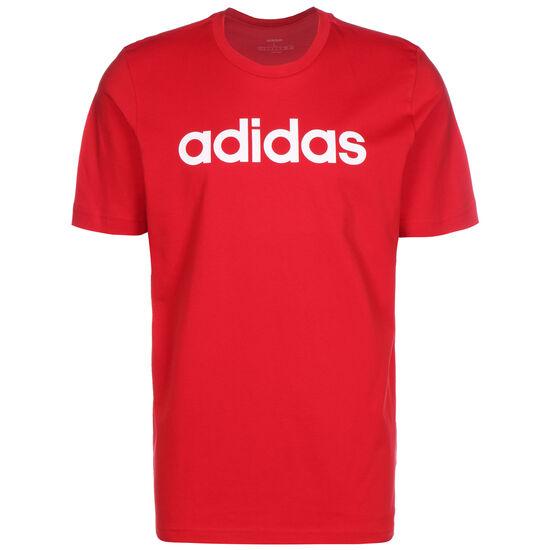 Essentials Linear Logo T-Shirt Herren, rot / weiß, zoom bei OUTFITTER Online