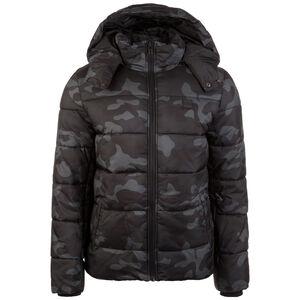 Hooded Camo Puffer Winterjacke Herren, schwarz / grau, zoom bei OUTFITTER Online