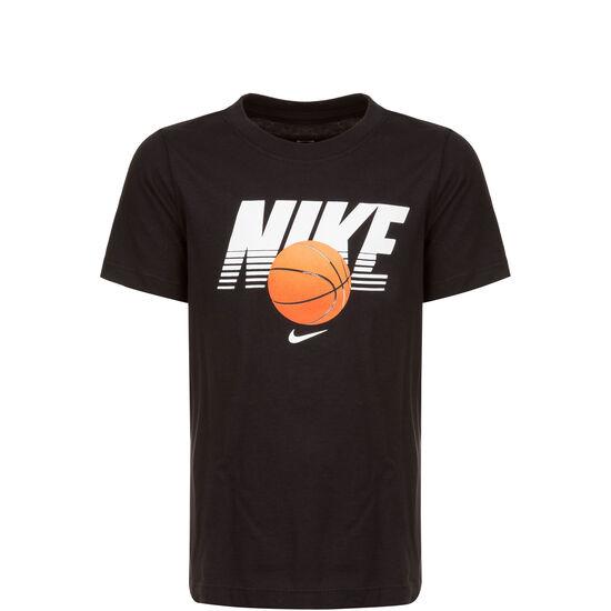 Basketball Ball T-Shirt Kinder, schwarz / weiß, zoom bei OUTFITTER Online