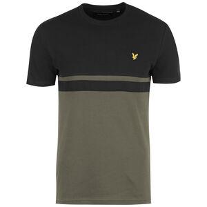 Panel Stripe T-Shirt Herren, schwarz / oliv, zoom bei OUTFITTER Online