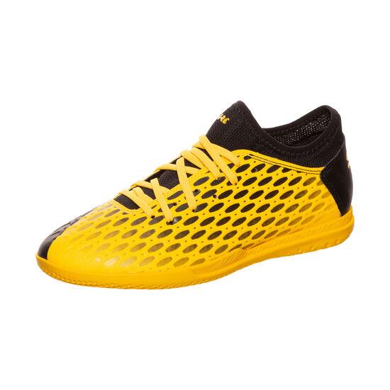 Future 5.4 Indoor Fußballschuh Kinder, gelb / schwarz, zoom bei OUTFITTER Online