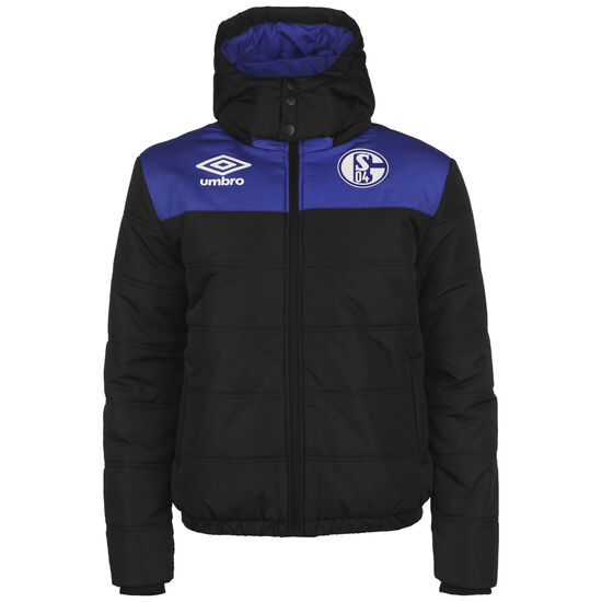 FC Schalke 04 Icon Puffa Winterjacke Herren, schwarz / blau, zoom bei OUTFITTER Online