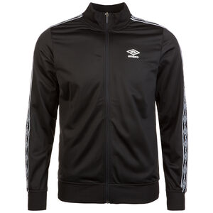 Retro Taped Tricot Trainingsjacke Herren, schwarz / weiß, zoom bei OUTFITTER Online