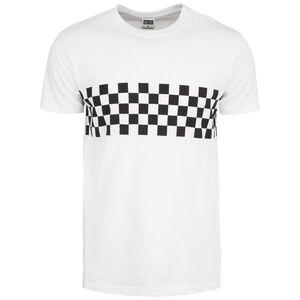 Check Panel T-Shirt Herren, weiß / schwarz, zoom bei OUTFITTER Online