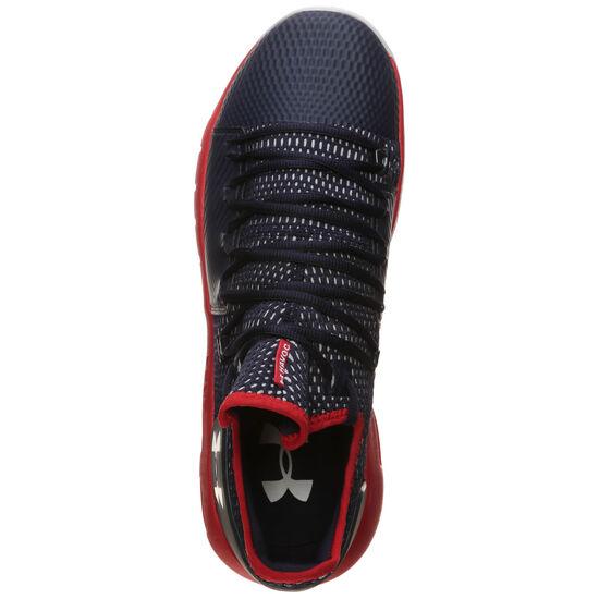 HOVR Havoc Low Basketballschuh Herren, dunkelblau / rot, zoom bei OUTFITTER Online