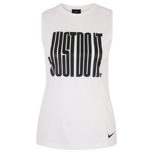 Pro Just Do It Trainingstank Damen, weiß / schwarz, zoom bei OUTFITTER Online