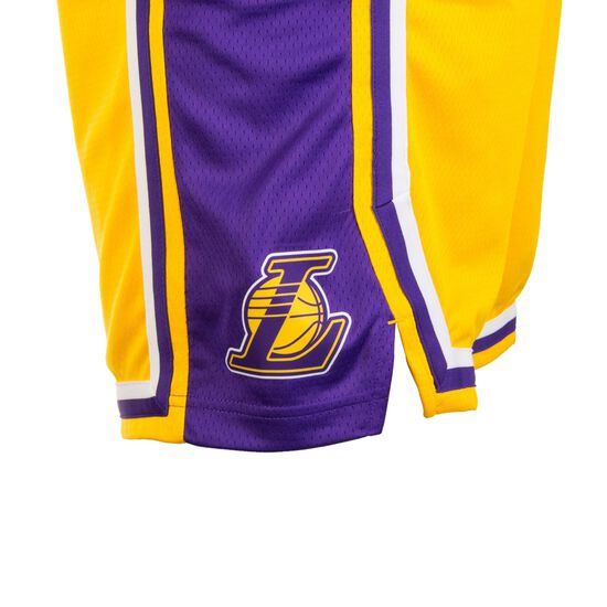 LA Lakers Swingman Basketballshort Herren, lila / gelb, zoom bei OUTFITTER Online