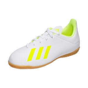 X 18.4 Indoor Fußballschuh Kinder, weiß / neongelb, zoom bei OUTFITTER Online