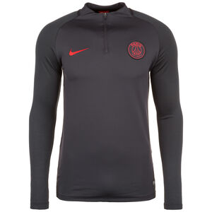 Paris St.-Germain Dry Squad Drill Trainingsshirt Herren, dunkelgrau / rot, zoom bei OUTFITTER Online
