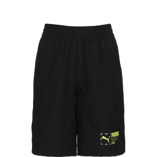 Active Sports Woven Shorts Kinder, schwarz, zoom bei OUTFITTER Online