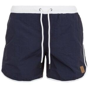 Retro Swim Shorts Herren, dunkelblau / weiß, zoom bei OUTFITTER Online