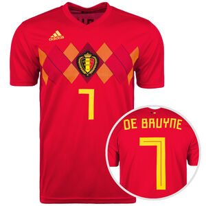 Belgien Trikot Home De Bruyne WM 2018 Herren, Rot, zoom bei OUTFITTER Online