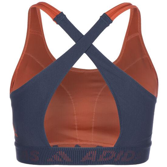 Don't Rest 3-Streifen Sport-BH Damen, rot / dunkelblau, zoom bei OUTFITTER Online