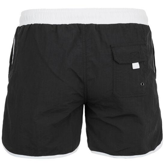 Retro Swim Shorts Herren, schwarz / weiß, zoom bei OUTFITTER Online