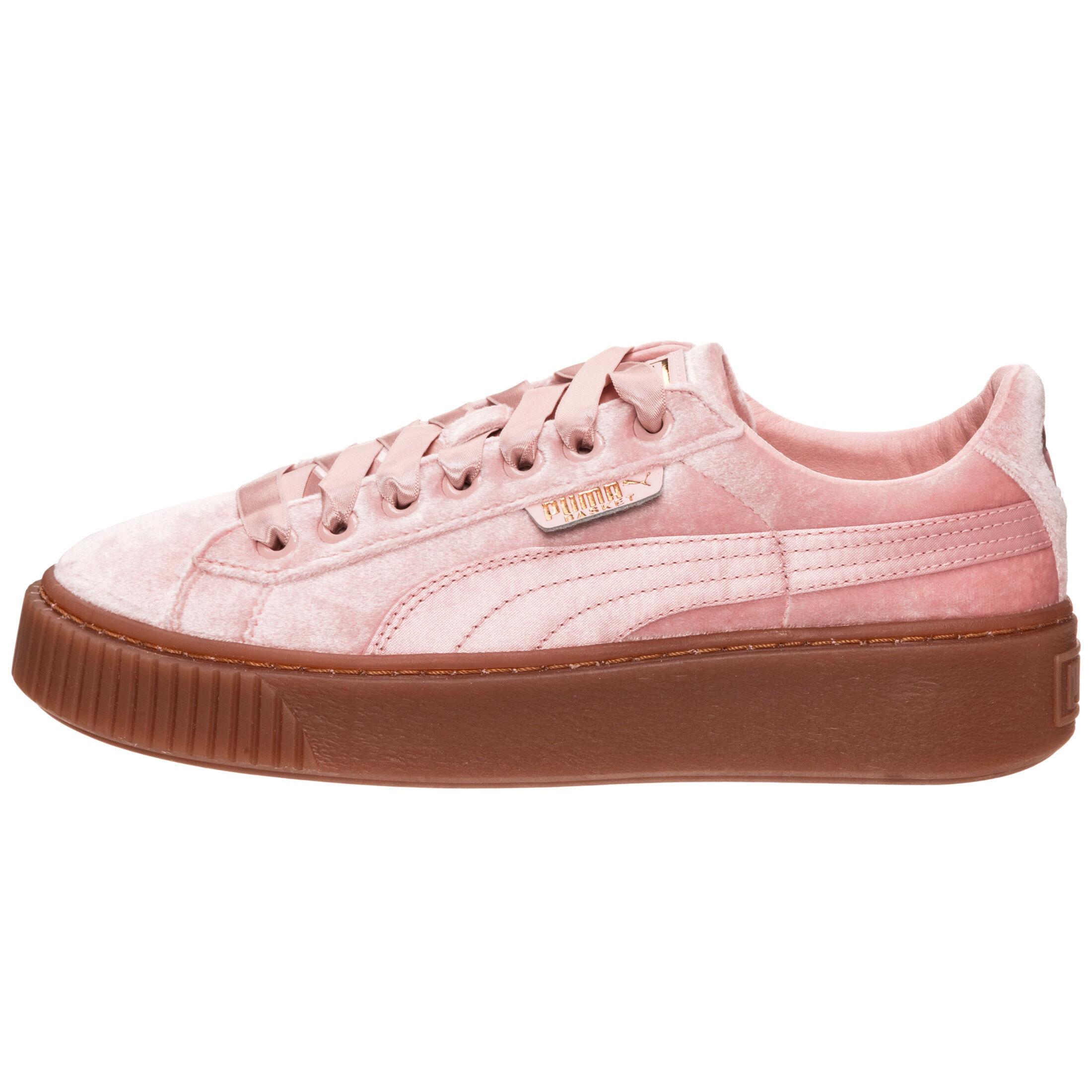 Platform' Puma Sneaker In Kaufen Samt Rosé 'basket Aus
