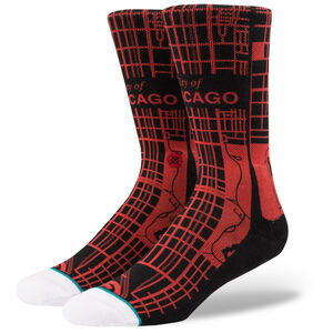Squad Windy City Chicago Socken, schwarz / rot, zoom bei OUTFITTER Online
