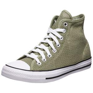 Chuck Taylor All Star Crochet Play High Sneaker Damen, grün / weiß, zoom bei OUTFITTER Online