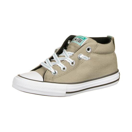 Chuck Taylor All Star Street Mid Sneaker Kinder, hellbraun / grün, zoom bei OUTFITTER Online