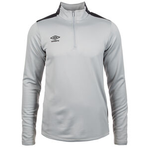 Half-Zip Trainingsshirt Herren, grau / anthrazit, zoom bei OUTFITTER Online