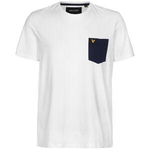 Contrast Pocket T-Shirt Herren, weiß / dunkelblau, zoom bei OUTFITTER Online