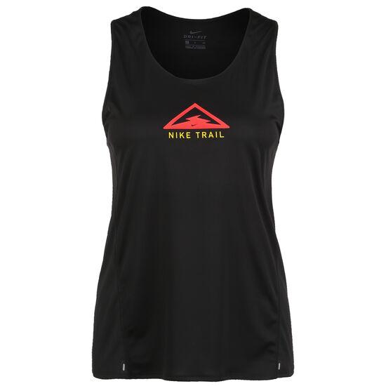 City Sleek Trail Lauftop Damen, schwarz / neonrot, zoom bei OUTFITTER Online