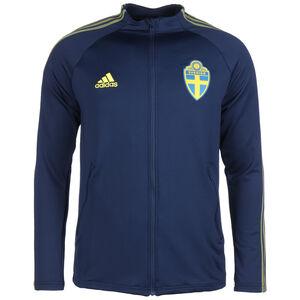 Schweden Anthem Jacke EM 2021 Herren, dunkelblau / gelb, zoom bei OUTFITTER Online