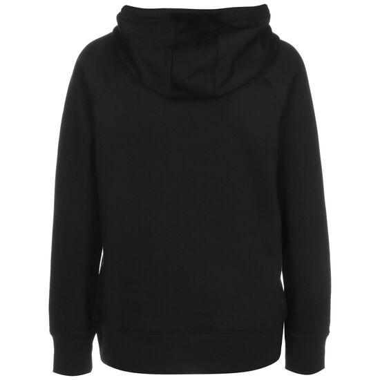 Rival Fleece Kapuzenpullover Damen, schwarz / weiß, zoom bei OUTFITTER Online