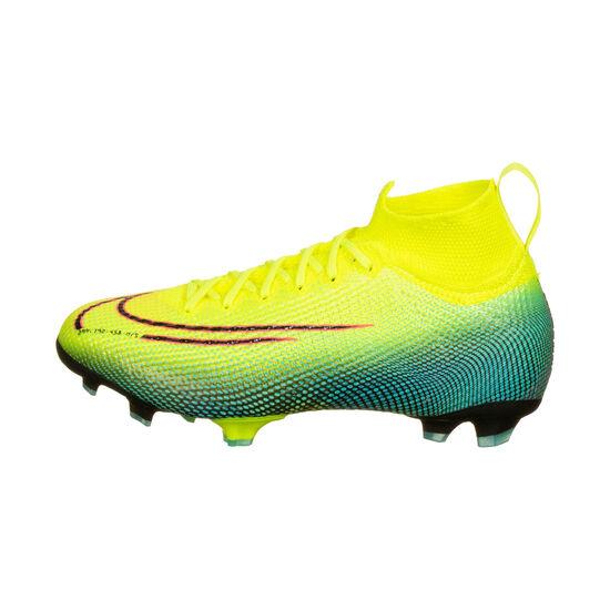 Mercurial Superfly 7 Elite MDS DF FG Fußballschuh Kinder, gelb / grün, zoom bei OUTFITTER Online