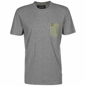 Contrast Pocket T-Shirt Herren, grau / grün, zoom bei OUTFITTER Online