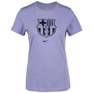 FC Barcelona Evergreen Crest T-Shirt Damen, flieder, zoom bei OUTFITTER Online