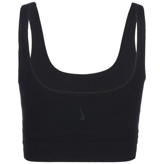 Yoga Lux Crop Sporttop Damen, schwarz / dunkelgrau, zoom bei OUTFITTER Online