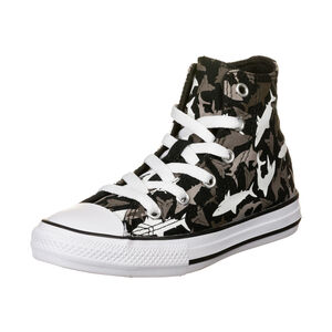 Chuck Taylor All Star Shark Bite High Sneaker Kinder, schwarz / grau, zoom bei OUTFITTER Online