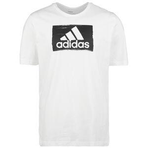 Brushstroke T-Shirt Herren, weiß / schwarz, zoom bei OUTFITTER Online