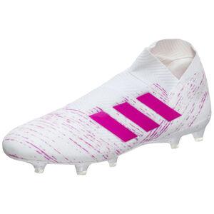 Nemeziz 18+ FG Fußballschuh Herren, weiß / pink, zoom bei OUTFITTER Online