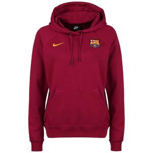 FC Barcelona Essential Fleece Kapuzenpullover Damen, rot / orange, zoom bei OUTFITTER Online