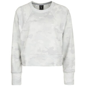 Icon Dry Fleece Trainingsoberteil Damen, hellgrau / weiß, zoom bei OUTFITTER Online