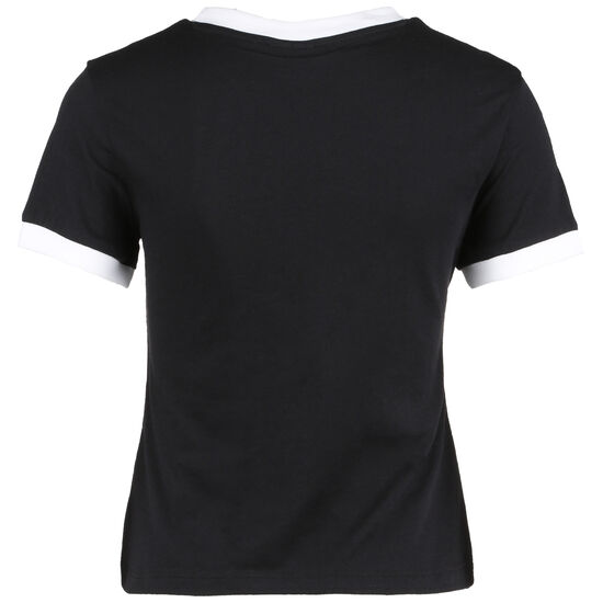 Training Essentials Linear Logo Trainingsshirt Damen, schwarz / weiß, zoom bei OUTFITTER Online