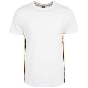 Side Taped T-Shirt Herren, weiß / bunt, zoom bei OUTFITTER Online
