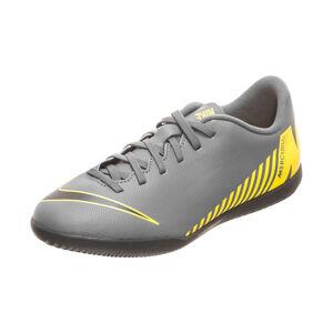 Mercurial VaporX XII Club Indoor Fußballschuh Kinder, dunkelgrau / gelb, zoom bei OUTFITTER Online