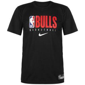 NBA Chicago Bulls Dry Logo T-Shirt Herren, schwarz / rot, zoom bei OUTFITTER Online