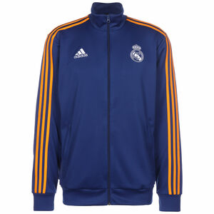Real Madrid 3-Streifen Trainingsjacke Herren, blau / dunkelgelb, zoom bei OUTFITTER Online