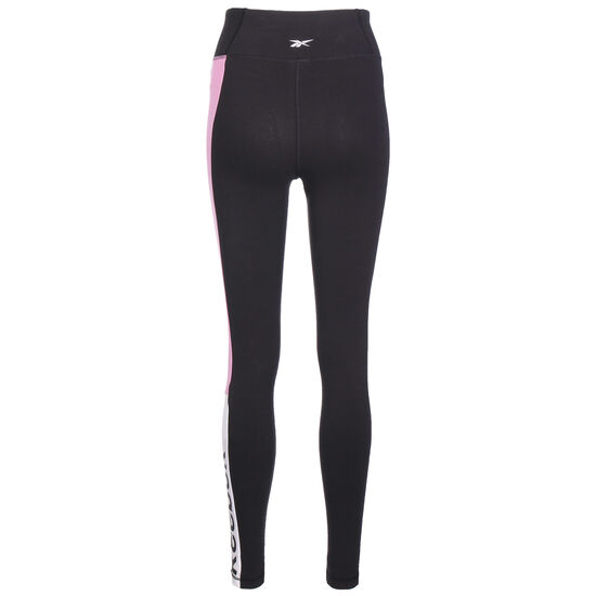Training Essentials Linear Logo Trainingstight Damen, schwarz / rosa, zoom bei OUTFITTER Online