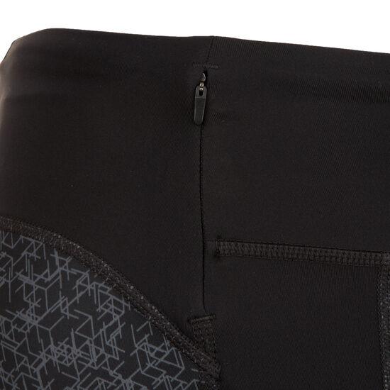 Crop Print Lauftight Damen, schwarz / silber, zoom bei OUTFITTER Online