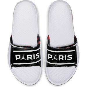 Paris St.-Germain Jordan Hydro Badesandale Herren, schwarz / weiß, zoom bei OUTFITTER Online
