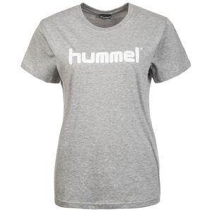 Cotton Logo Trainingsshirt Damen, grau / weiß, zoom bei OUTFITTER Online