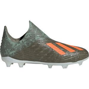 X 19+ FG Fußballschuh Kinder, oliv / orange, zoom bei OUTFITTER Online