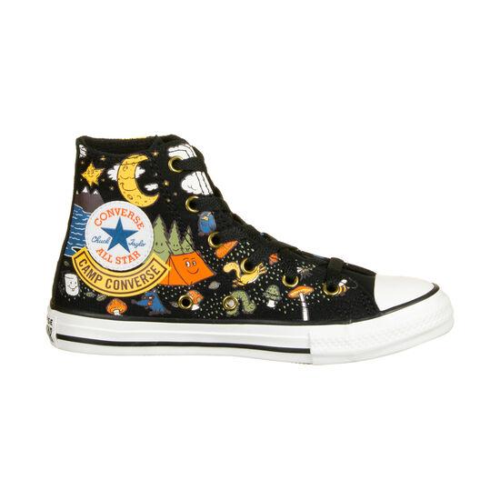 Chuck Taylor All Star High Sneaker Kinder, schwarz / bunt, zoom bei OUTFITTER Online